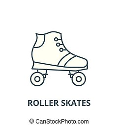Roller skates vector line icon, linear concept, outline sign, symbol