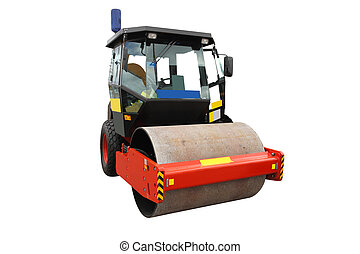 roller - The image of road roller under the white background