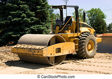 Roller - This is a large highway construction packing roller...