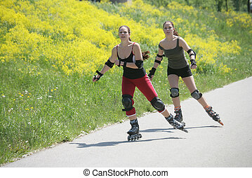 rollerblades, tempo