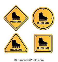 rollerblading, サイン