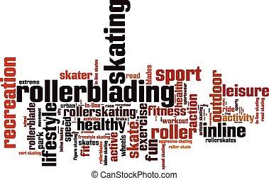Rollerblading word cloud