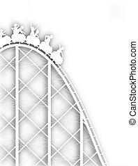 Rollercoaster cutout - Editable vector cutout silhouette of...