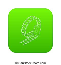 Rollercoaster icon green