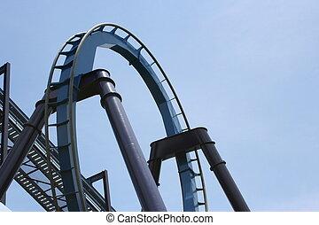 Rollercoaster Loop - A rollercoaster loop