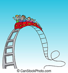 Rollercoaster Ride - An image of a rollercoaster ride.