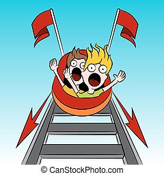 Rollercoaster Riders - An image of a rollercoaster riders.
