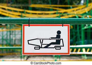 rollercoaster sign