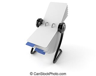 Rollerdex - Rolodex isolated on white background