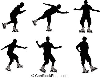 rollers silhouettes