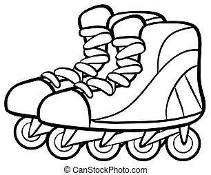 Rollerskates - Pair of rollerskates in simple design