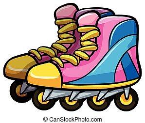 Rollerskates - Pair of rollerskates with four wheels