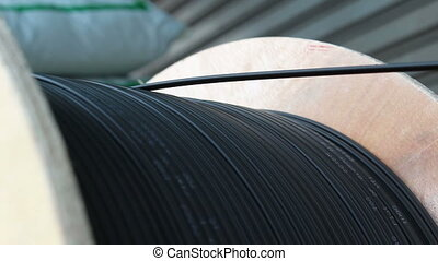 rolling cable wire fiber optic