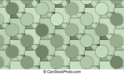 rolling circle and square mosaics