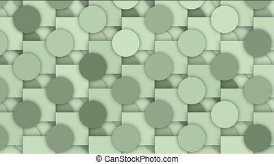 rolling circle and square mosaics