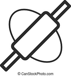 Rolling Dough - Dough, rolling, pin icon vector image. Can...