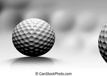 Rolling Golf Balls