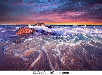 Rolling In - Beautiful South Australian Sunset - Yorke ...