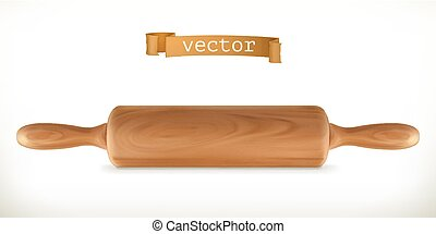 Rolling pin. 3d vector icon