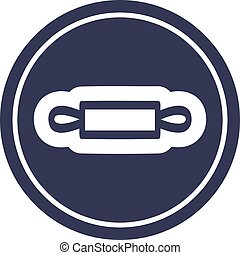 rolling pin circular icon symbol