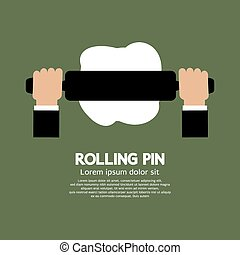 Rolling Pin. - Rolling Pin Vector Illustration.