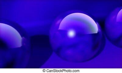 Rolling purple balls