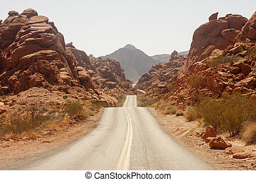 Rolling Road Through Red Rock Canyons