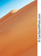 Rolling sand dunes of the Arabia