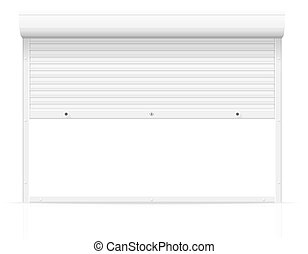 rolling shutters vector illustration