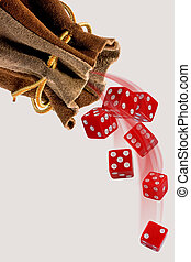 Rolling the Dice. - Rolling the red dice with room for your...