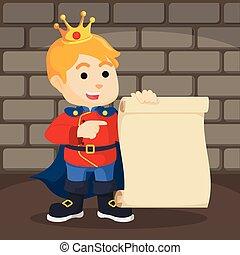 rollo de papel, príncipe