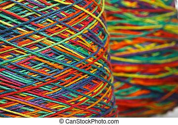rollo, hilo, multicolor