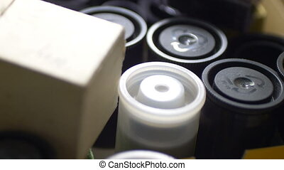 Rolls Of Black And White Negative Film
