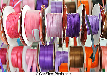 rolls of colored tape