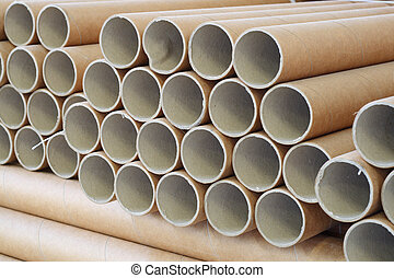 rolls of industrial paper - a bundle of paper rolls
