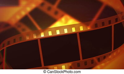 """""""Rolls of Movie Making Film Tape"""" - """"A retro 3d rendering of..."""