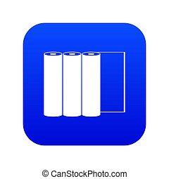 Rolls of paper icon digital blue