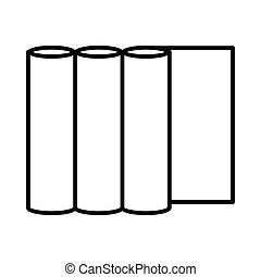 Rolls of paper icon, outline style