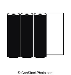 Rolls of paper icon, simple style