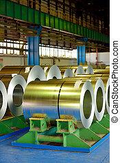 rolls of steel plate