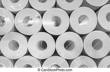 rolls of the industrial paper