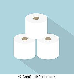 rolls of toilet paper icon- vector illustration