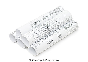 rolls, teckningar, ingenjörsvetenskap