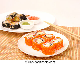 rolls with caviar chaplain. - Rolls with caviar chaplain and...