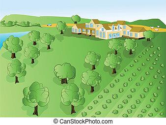 rolnictwo, ilustracja