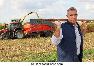 rolnik, widły