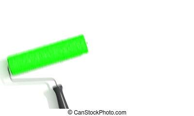 rolo, quadro, verde, color.