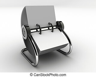 Rolodex 1 - A blank white rolodex - rendered in 3d