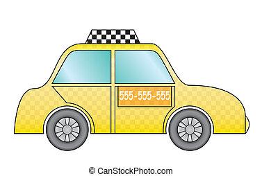 rolować taksówkę, żółty