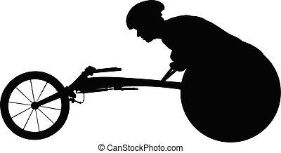 rolstoel racer, atleet